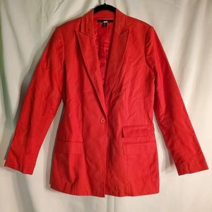 Kenneth Cole Lightweight bright red suit jacket